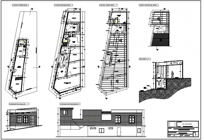 Full detailed view file containing elevation and plan of building
