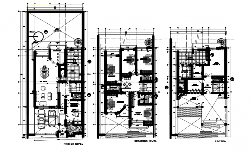 Furnished living apartment 2d layout plan in autocad software file