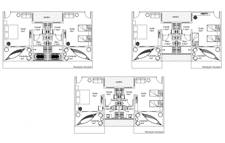 Furnished residential house working plan layout dwg file