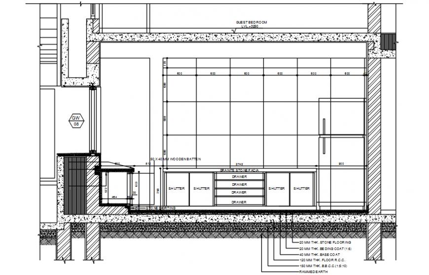 Furnishing of kitchen elevation