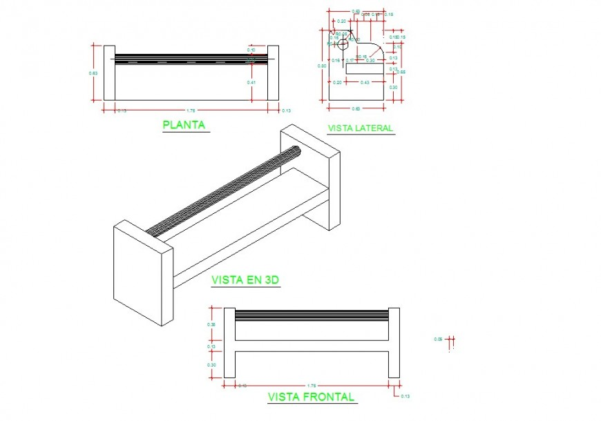 Furniture 3d view detailing