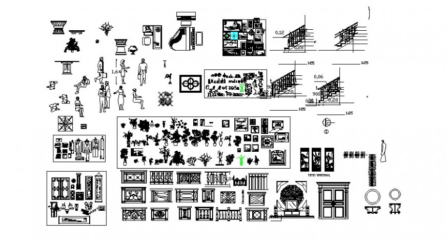 Furniture blocks details and people units autocad file