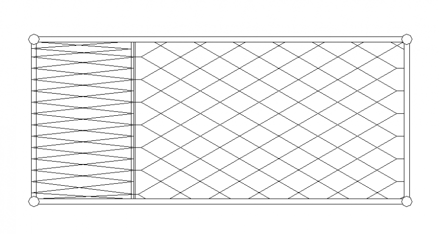 Furniture blocks drawings of single bed 2d view elevation dwg file