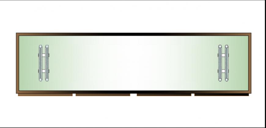 Furniture coffee table top view plan