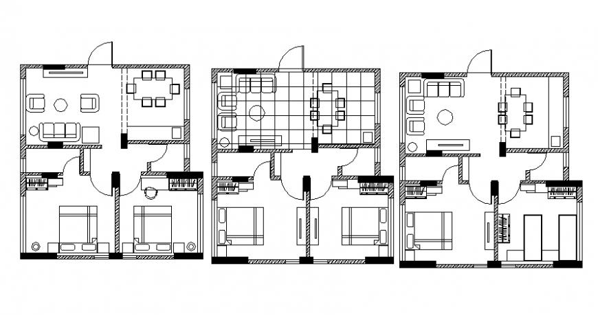 Furniture detail model 2d of house