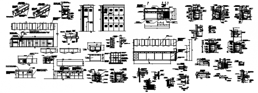 Furniture different part include its plan and elevation in auto cad