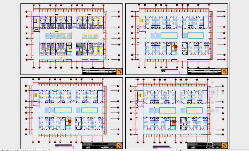 Furniture layout design of regional Hospital design drawing
