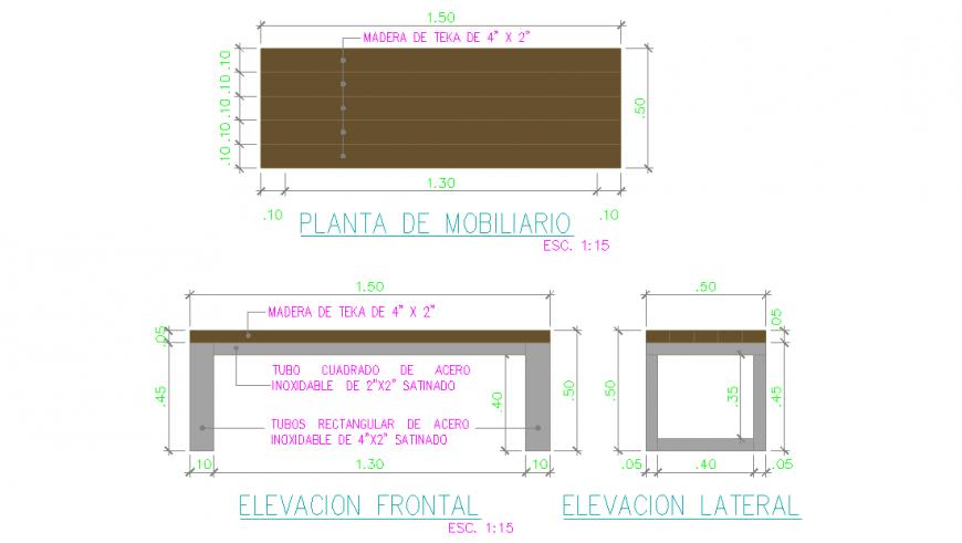 Furniture Plan & Elevation & Section Detail