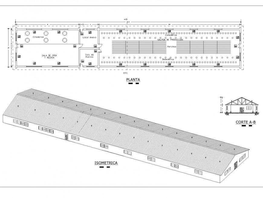 Gal pona vicola plan and section dwg file