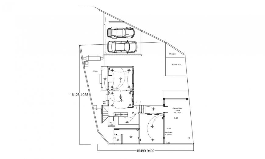 Galih house layout plan drawing details dwg file