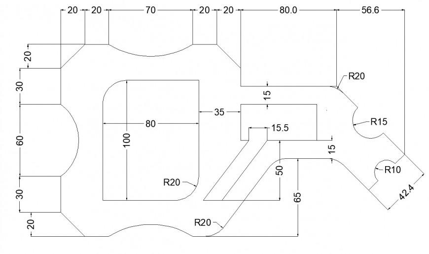 Garden area plan In AutoCAD plan