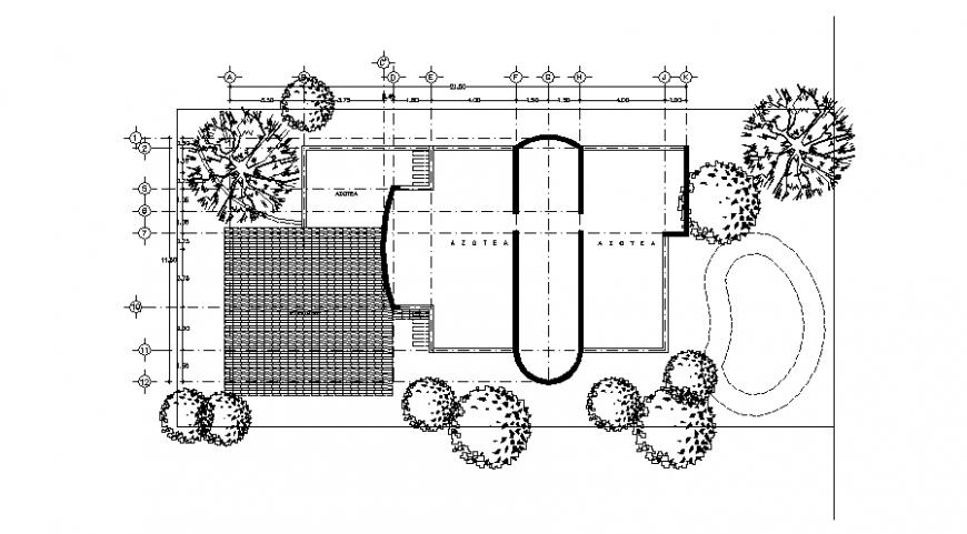 Garden top view plan