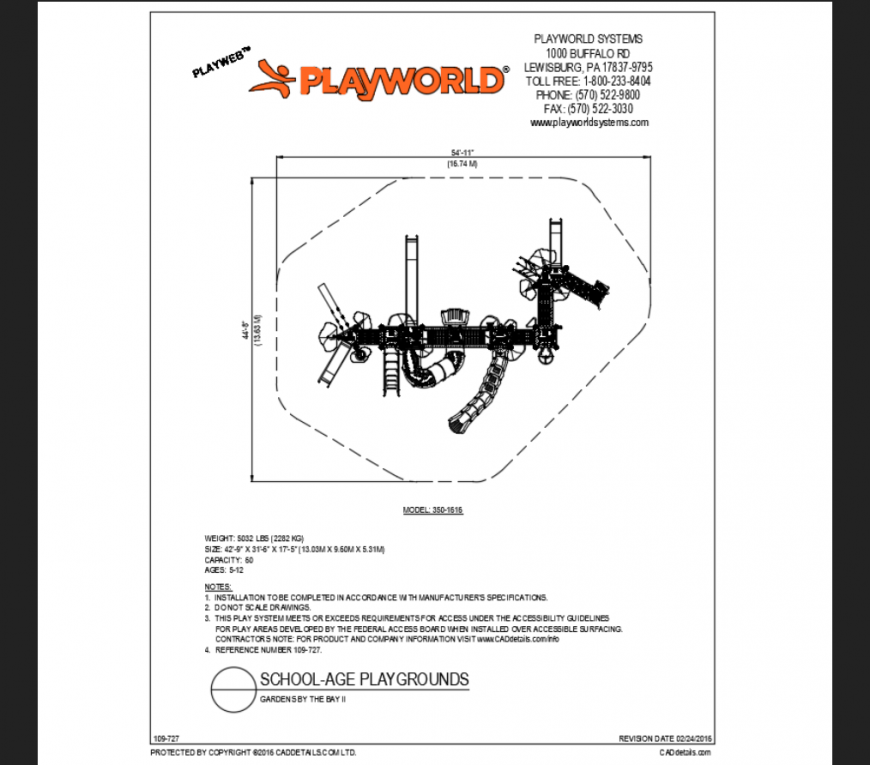 Gardens by the bay school age playground play area structure details dwg file