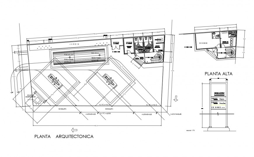 Gas installation plant layout plan drawing details for city dwg file