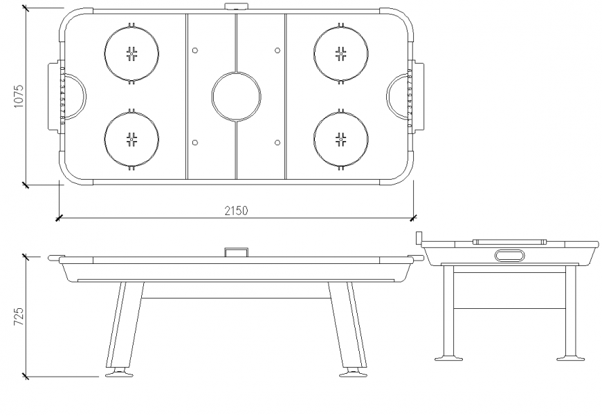 Gas stove detail elevation and plan dwg file