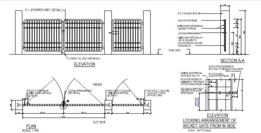 Gate 2d design front detailing concept