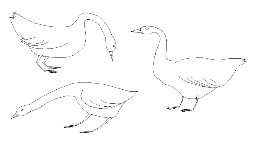 Geese 2 d plan layout file
