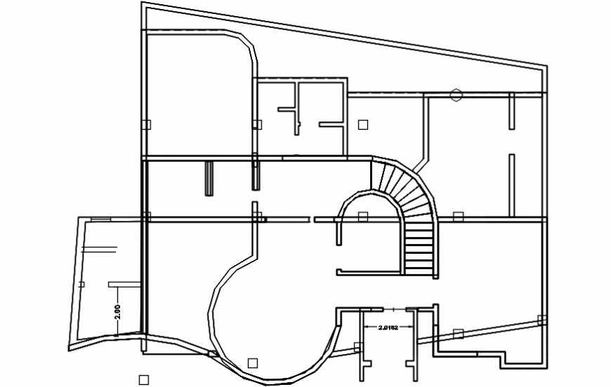 General framing plan structure details of residential villa dwg file