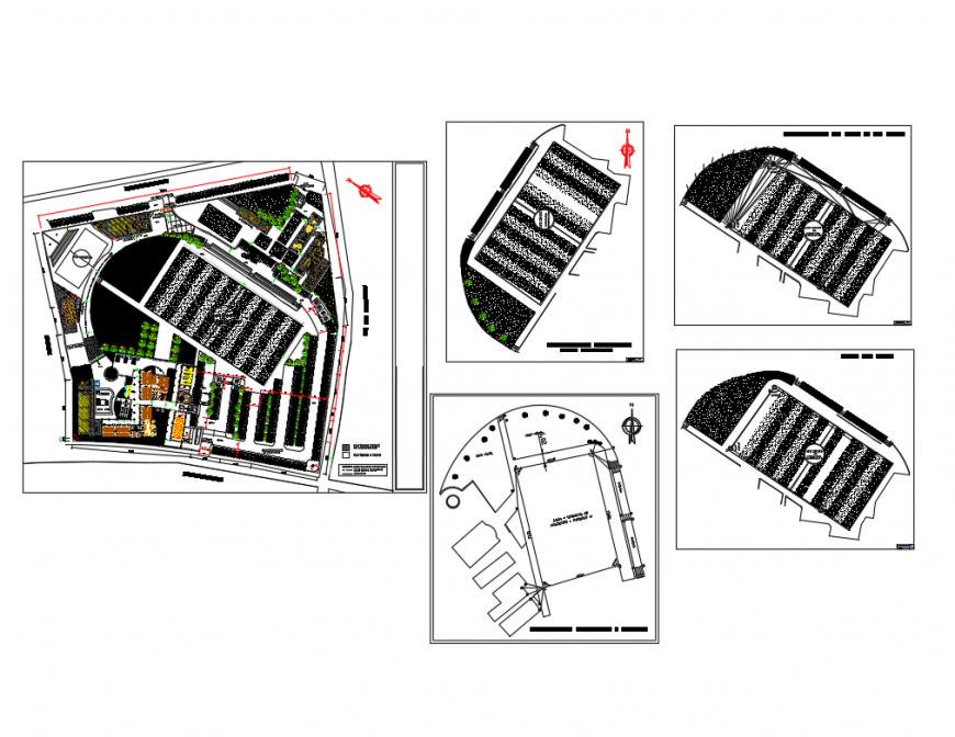 General hospital distribution plan and floor plan cad drawing details dwg file