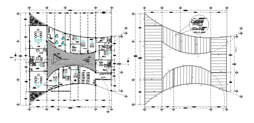 General hospital floor plan and framing plan structure cad drawing details dwg file