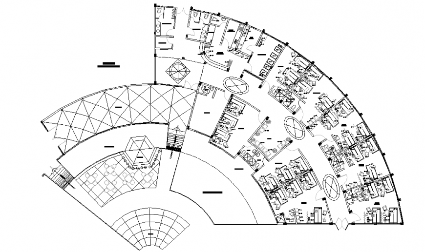 General Hospital Plan Lay-out detail
