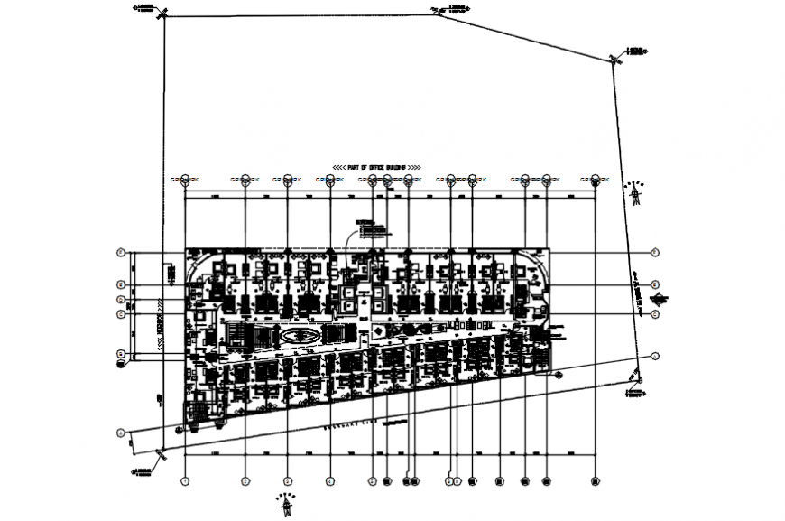 General hotel plan in AutoCAD file