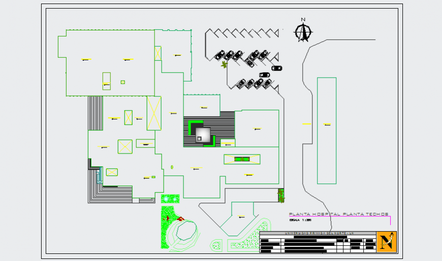General Layout plan of Hospital design drawing