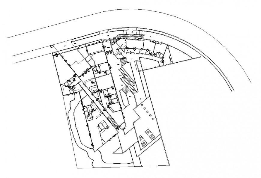 General planimetry details of municipal hospital building dwg file