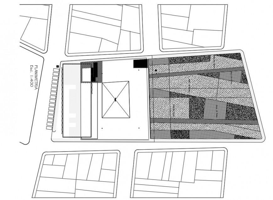 General planimetry details of school building dwg file