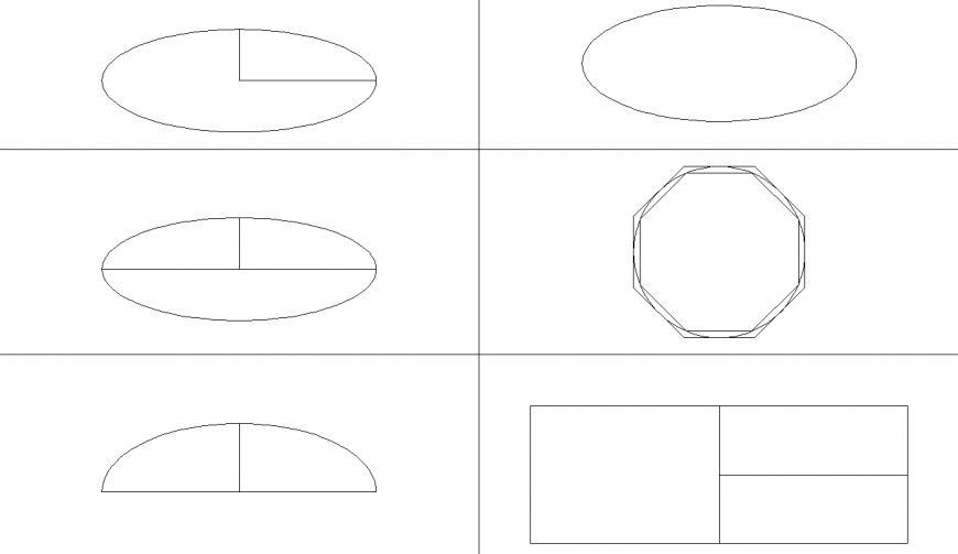 Geometrical shape drawing in dwg AutoCAD file.