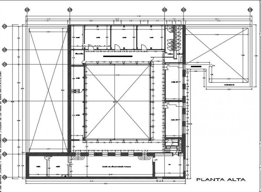 Girls school first floor distribution plan drawing details dwg file