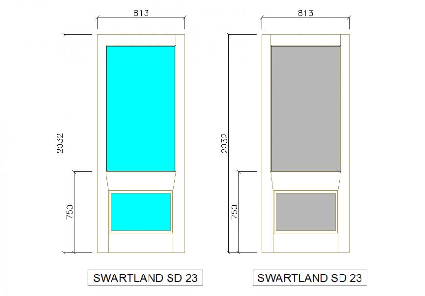 Glass & Solid Door Different type of Door Block