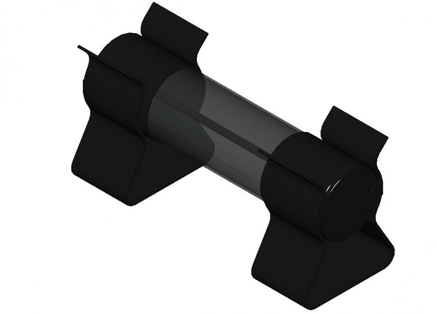 Glass fuse units drawings 3d model CAD block dwg autocad file