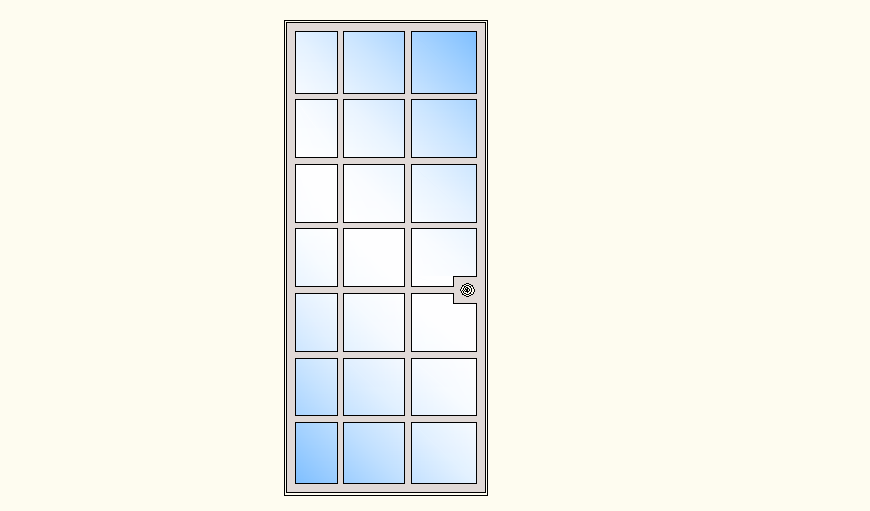 Glass Panel Door detail autocad file