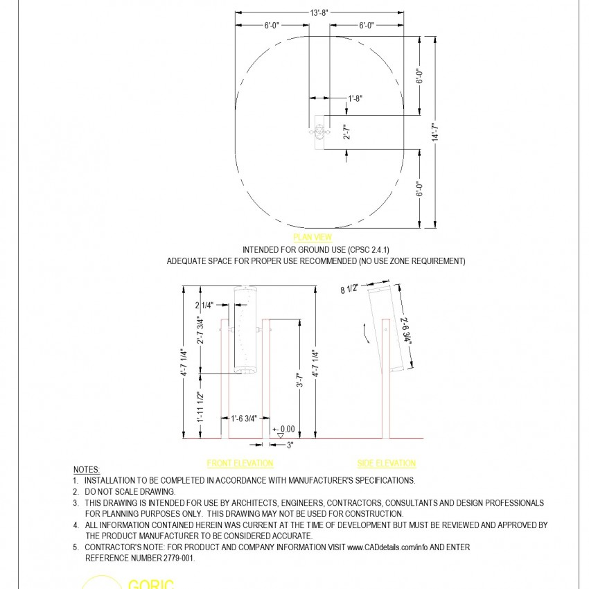 Goric plan and elevation dwg file