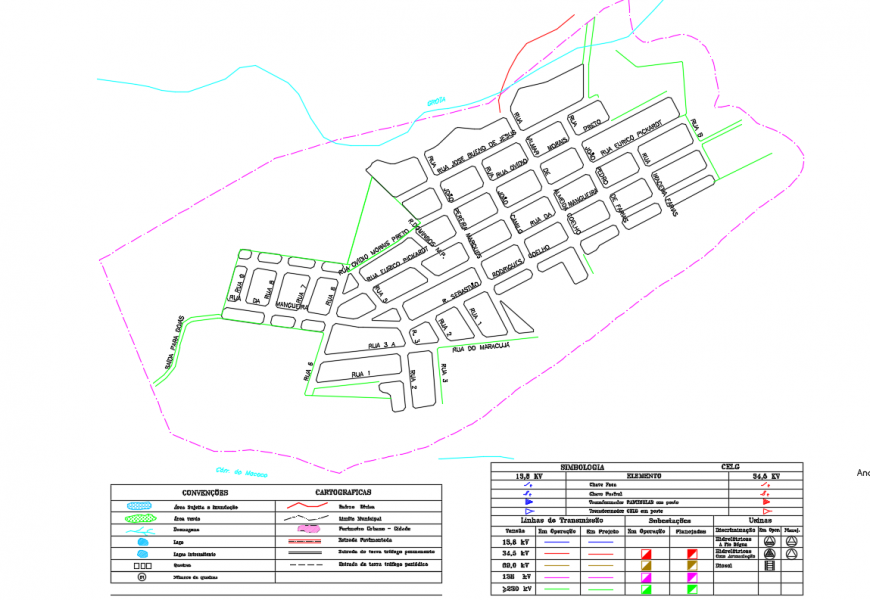 Government City planing Map Lay-out detail