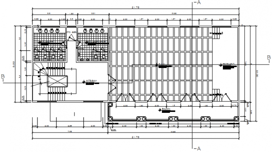 Government civic Centre second floor plan in AutoCAD