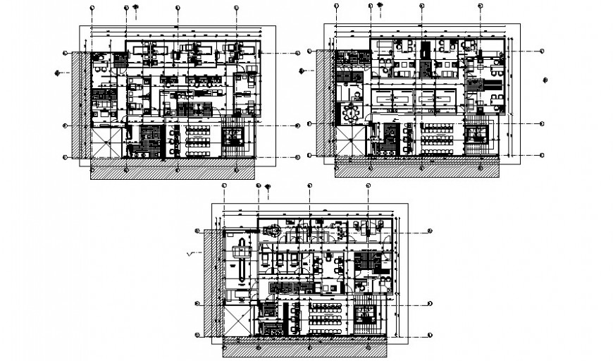 Government hospital building work plan drawing in autocad