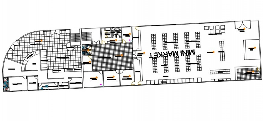 Government modern art museum distribution plan drawing details dwg file