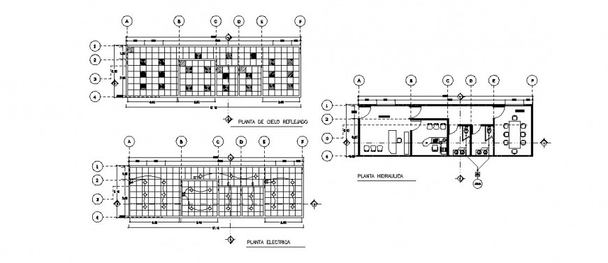Government office electrical layout plan detail drawing in dwg AutoCAD file.