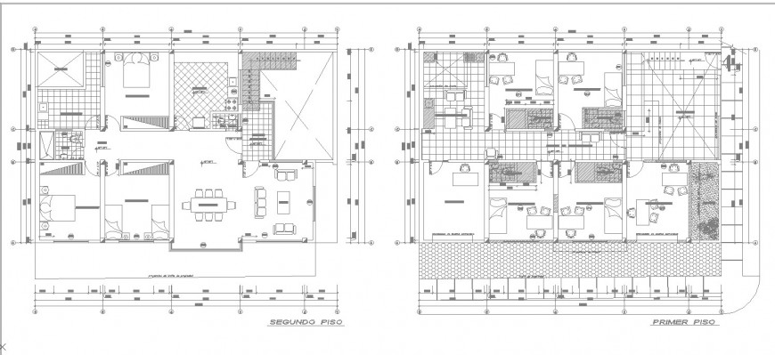 Ground and first floor drawing of dental clinic in dwg file.