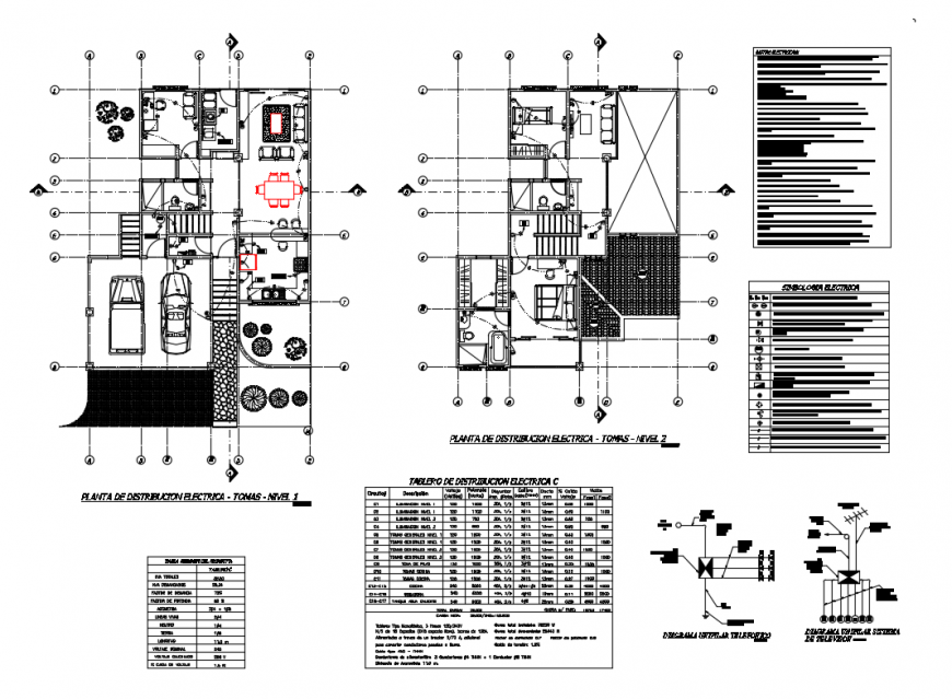 Ground and first floor layout plan details of colonial house dwg file