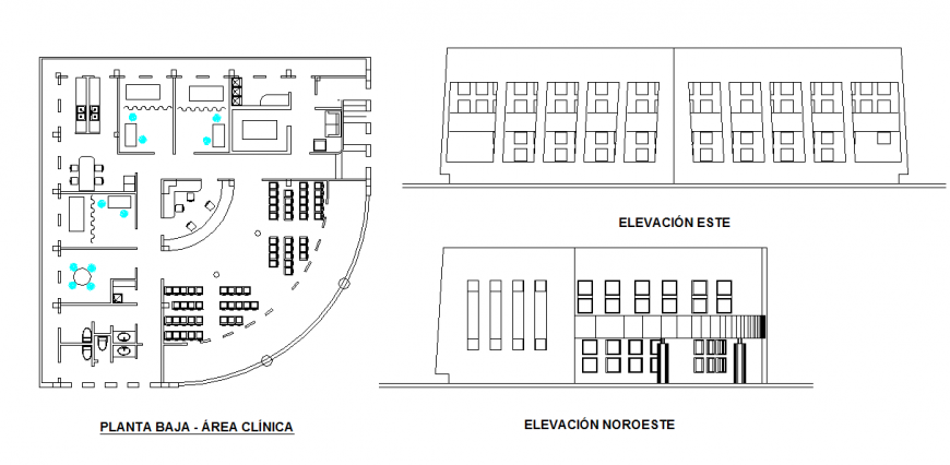 Ground floor - clinical area Lay-out & Elevation
