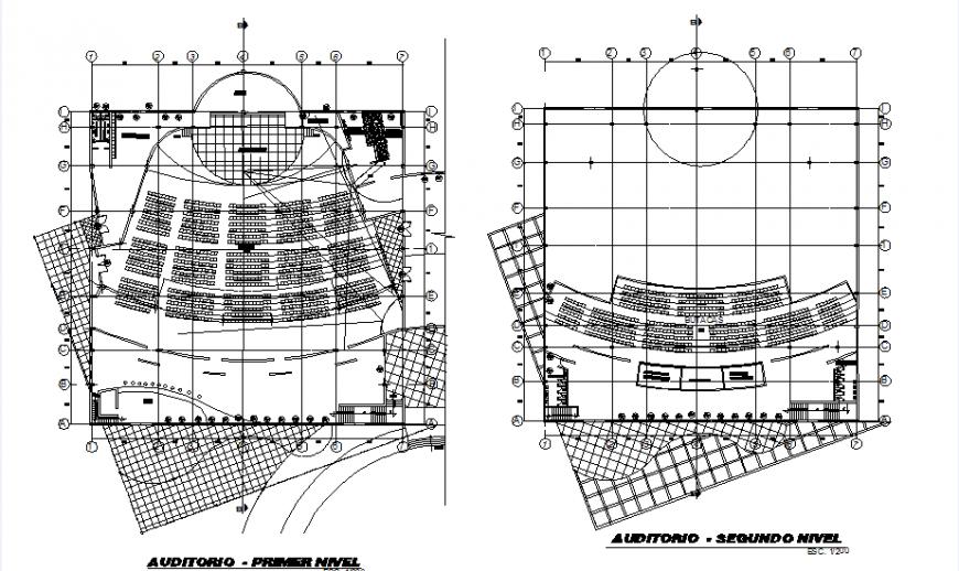 Ground floor and second-floor Auditorium insulation acoustic detail