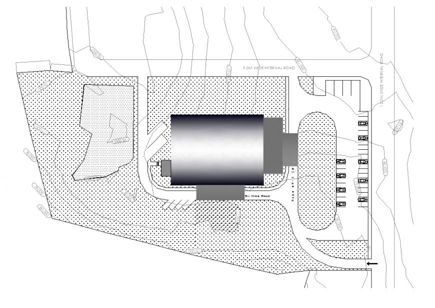 Ground floor auditorium planning detail dwg file