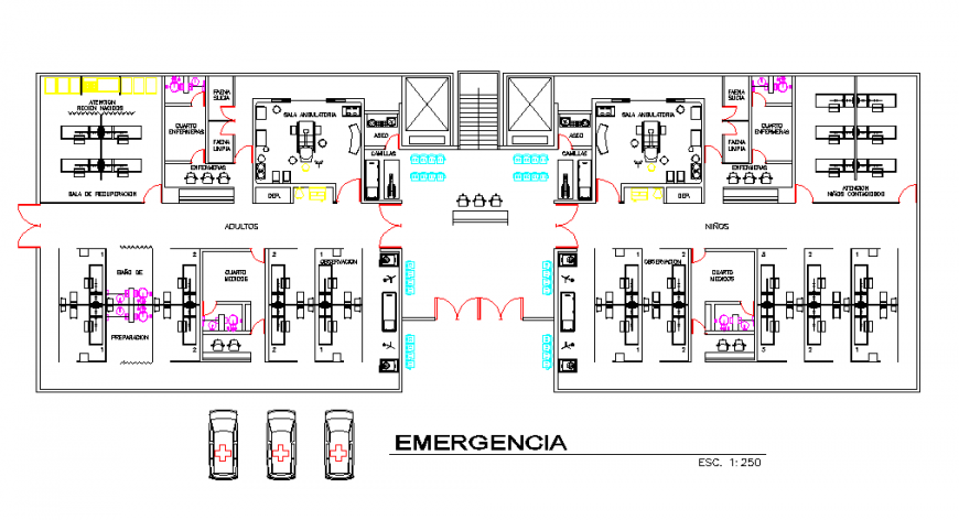 Ground Floor Hospital Lay-out detail