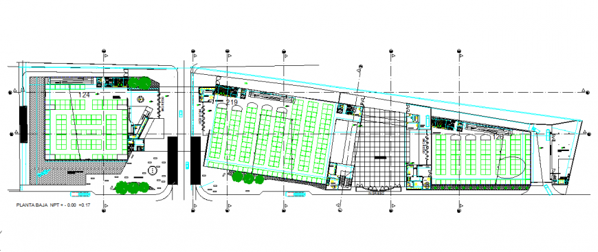 Ground Floor Lay-out detail in DWG file