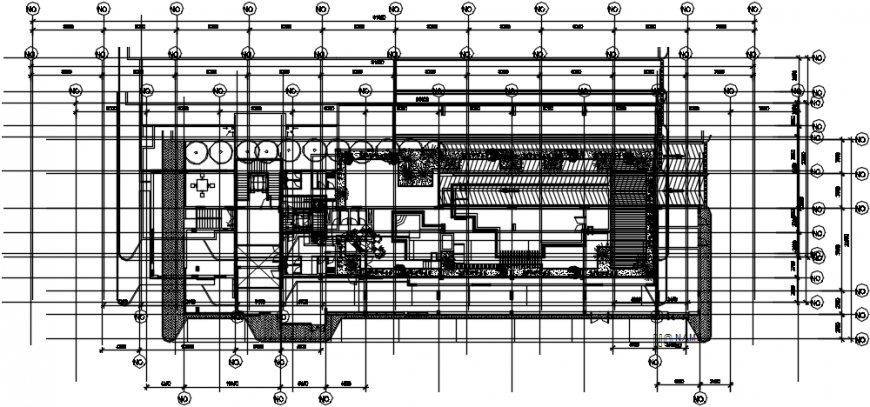 Ground floor layout plan details of club house cad drawing details dwg file