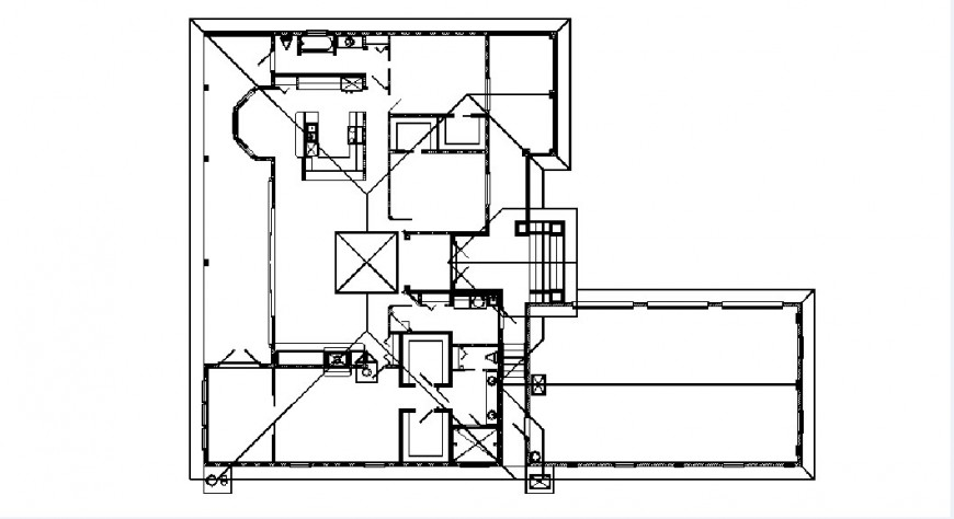Ground floor of house framing layout plan cad drawing details dwg file