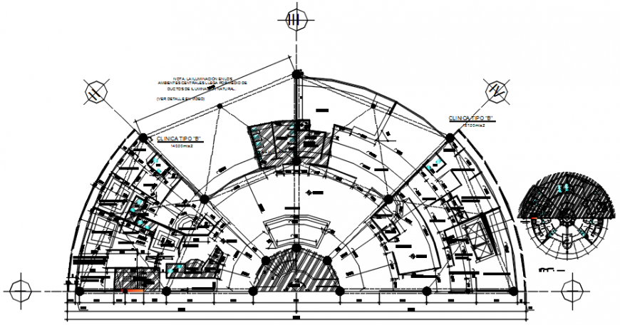 Ground floor plan of clinic in AutoCAD file